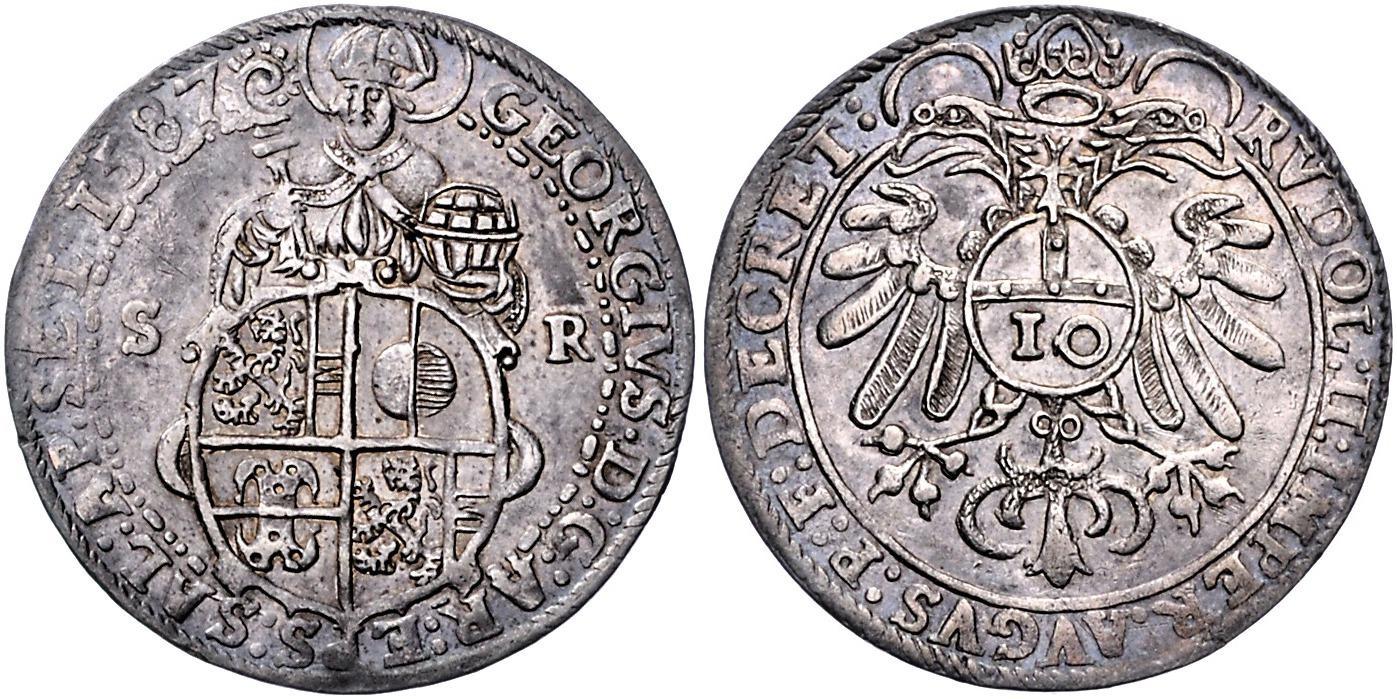 Georg Kuenburg, Zehner 1587.  RR!  Bild: Dorotheum Wien