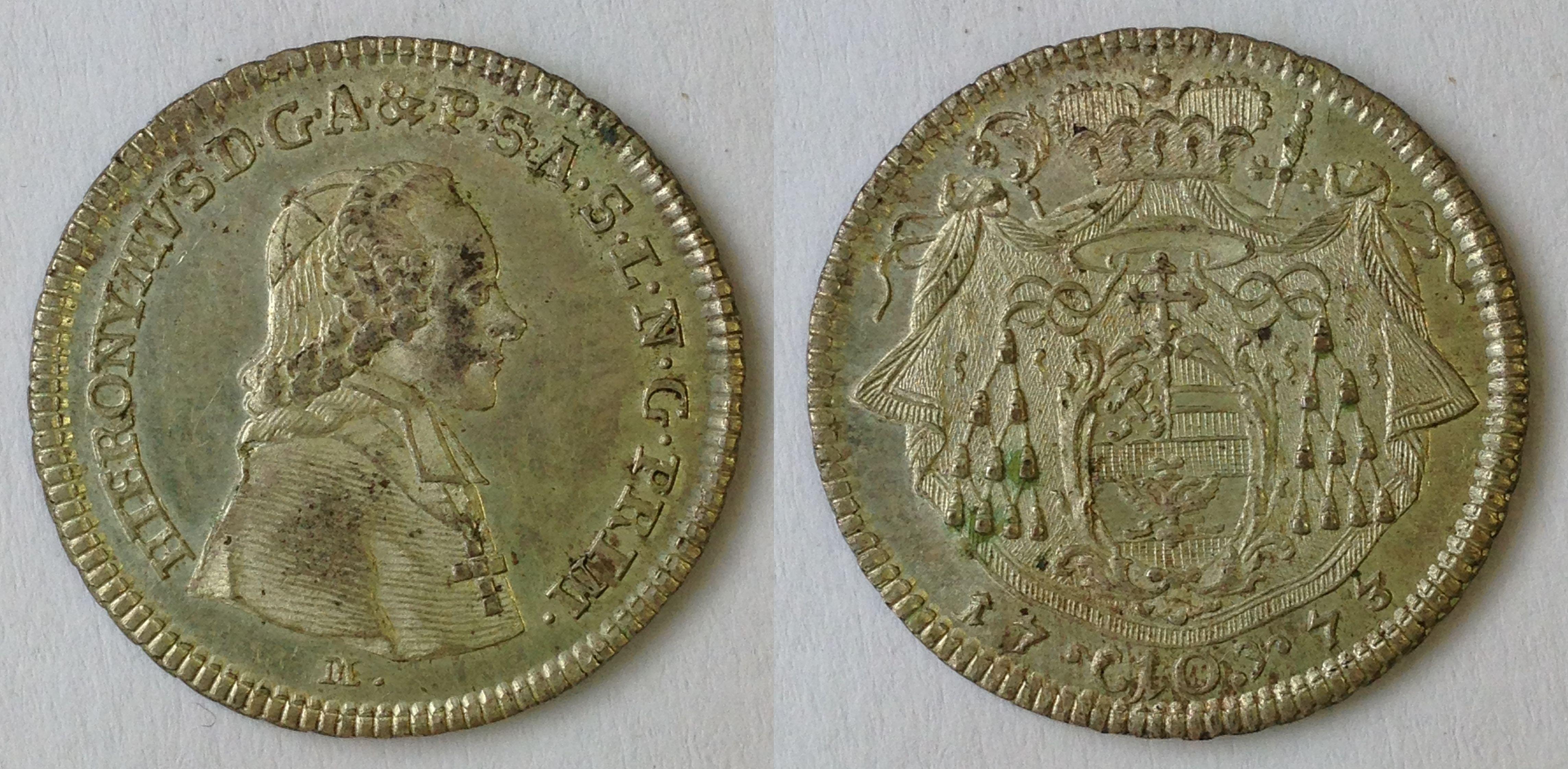 10 Kreuzer 1773, Münzkabinett Prag