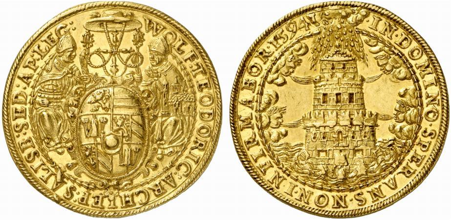 10 facher Turmdukat 1594, Künker Auktion 200