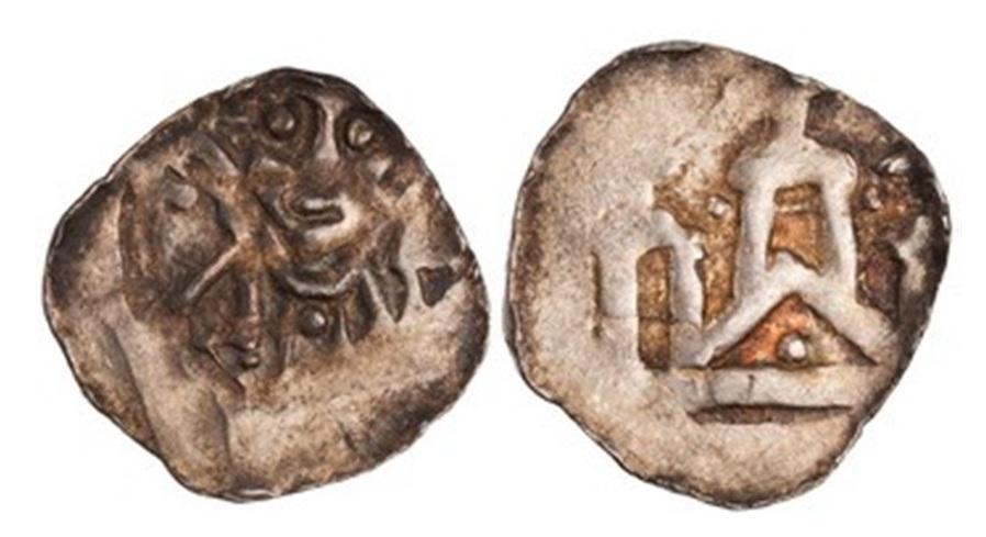 Denar des Erzbischofs Konrad, um 1125