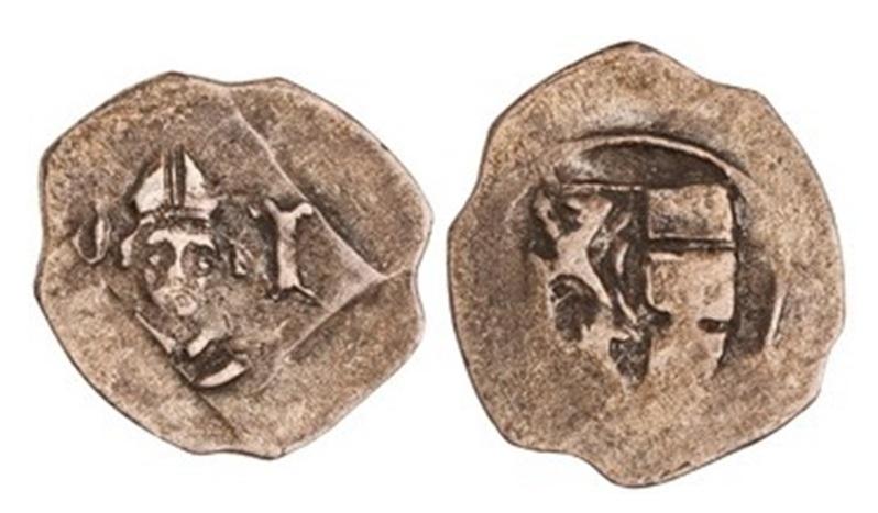 Pfennig des Erzbischofs Pilgrim, um 1365