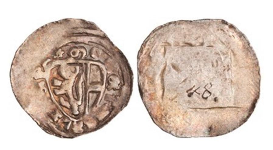 Pfennig des Erzbischofs Rudolph, um 1286