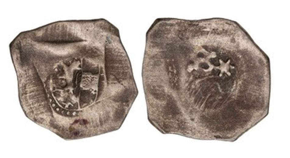 Wappenpfennig mit feinem Perlkreis
