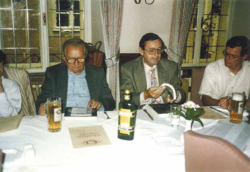 Der Vizepräsident der Tschechischen Numismatischen Gesellschaft Dipl.Ing. Ivo Halacka in Salzburg