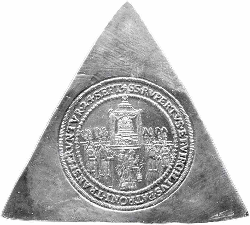 Münzsammlung des Steirischen Landesmuseums Joanneum: Vierfacher Domweihtaler als Dreiecksklippe