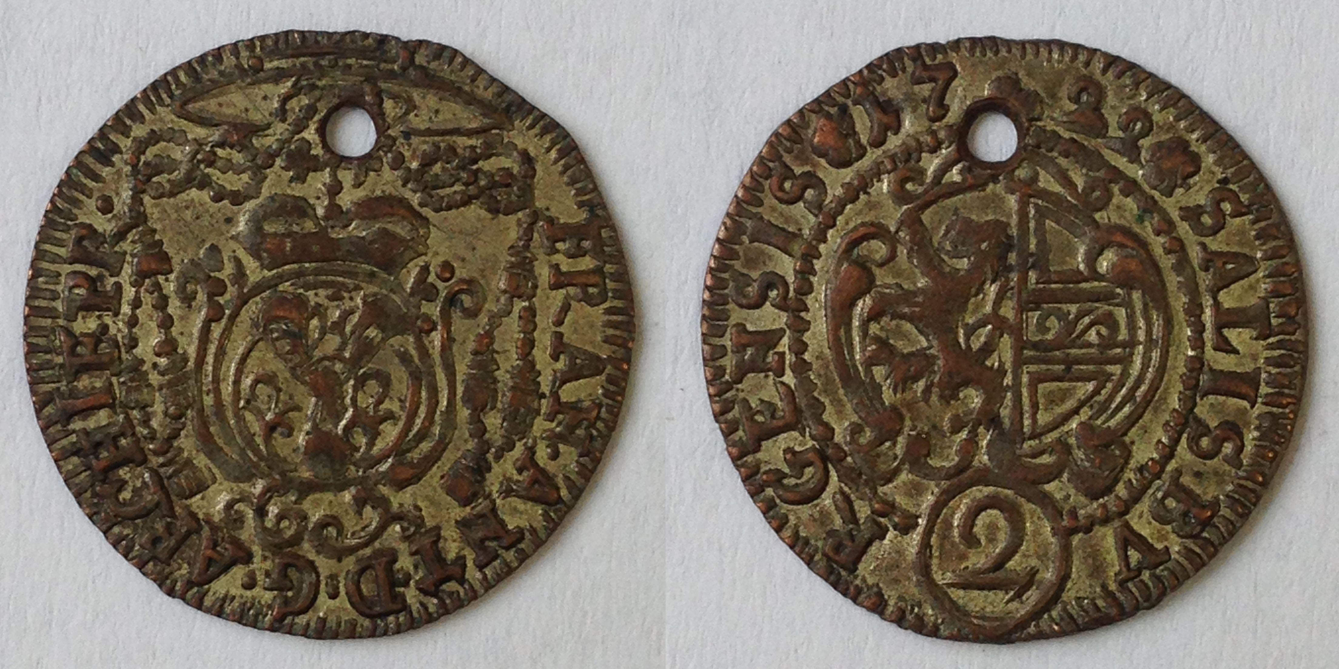 Halbbatzen 1722, Münzkabinett Prag