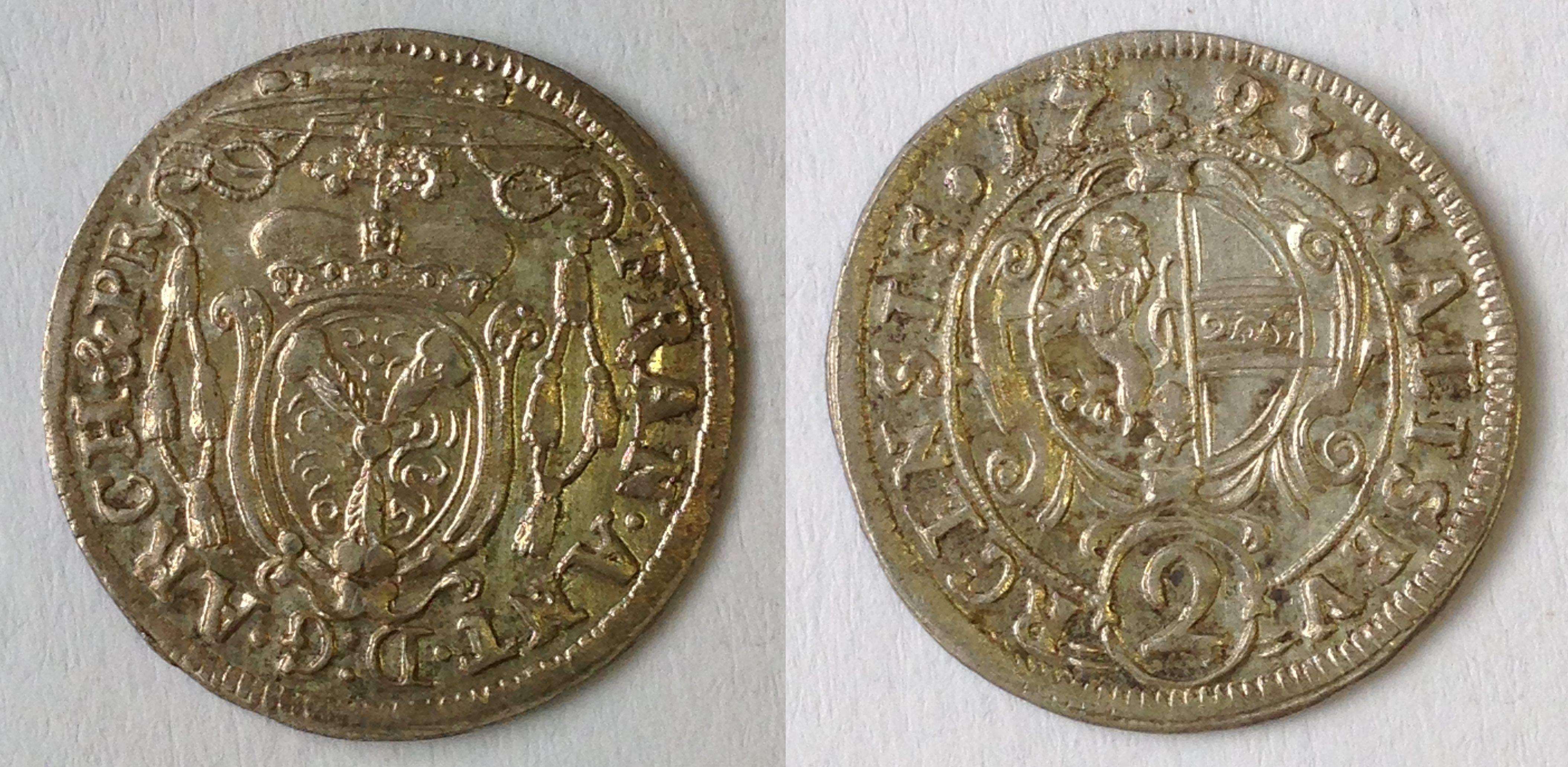 Halbbatzen 1723, Münzkabinett Prag