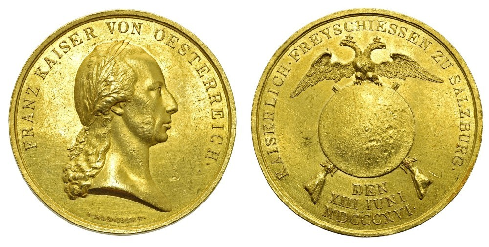 20 Dukaten 1816 Festschiessen zu Salzburg (Auktion Bolaffi, Turin)