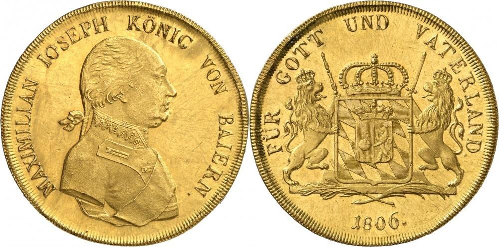 20facher Dukat 1806 Bayern; Numismatica Genevensis Auktion 8, 24.11.2114