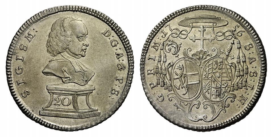 Sigismund Schrattenbach: 20 Kreuzer 1756
