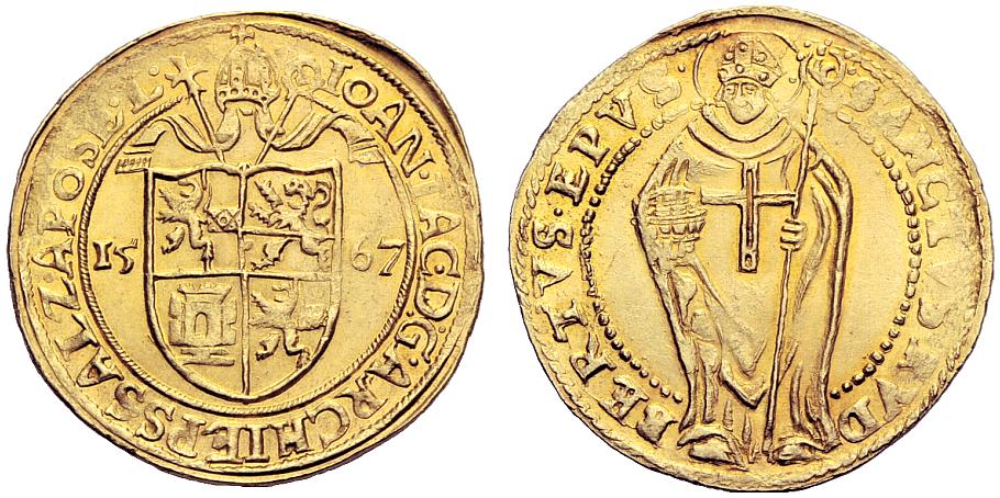 Doppeldukat 1567, Prägung mit einfachem Gewand, selten !