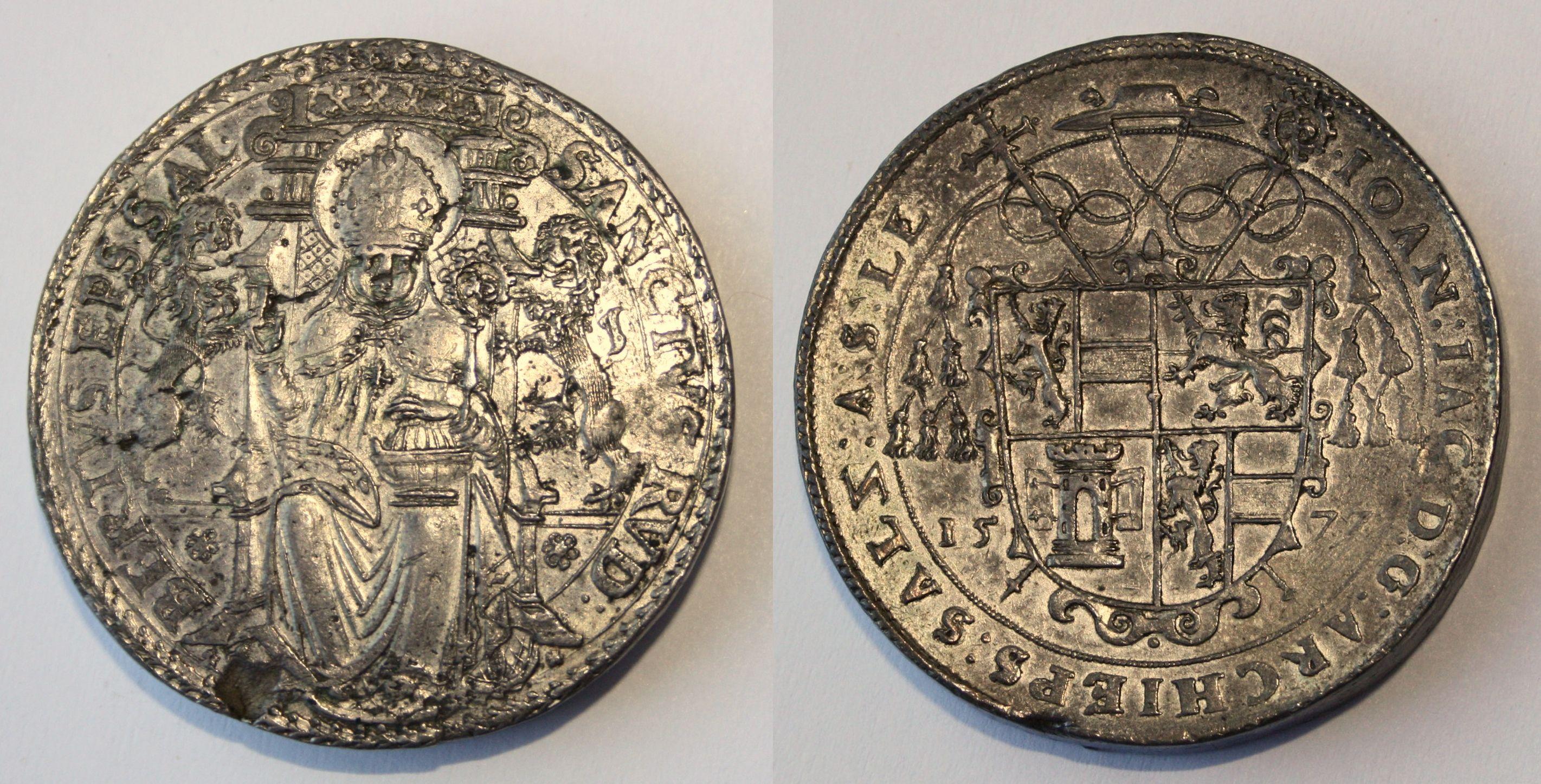 Vierfacher Schautaler 1572, Münzkabinett Gotha