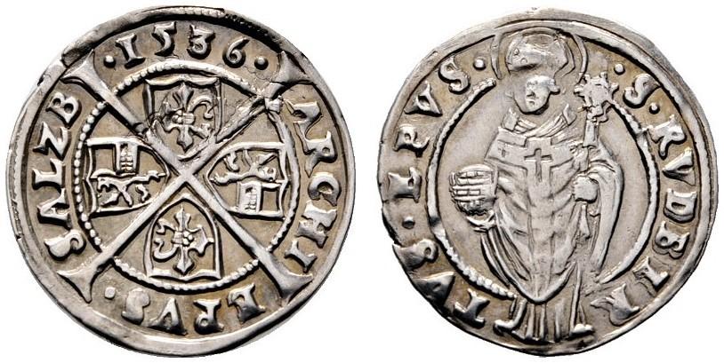 Bild: Rauch Auktion 101: 6 Kreuzer 1536