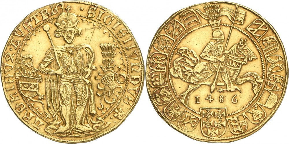 7 Dukaten 1486 Hall; Numismatica Genevensis Auktion 8, 24.11.2114
