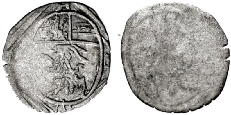 Markus Sitticus: Pfennig 1612 m. ovalem Wappen, unediert