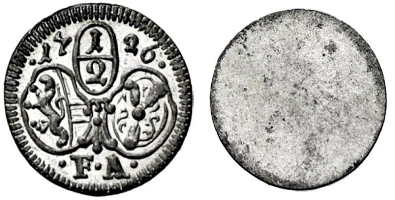 Halbkreuzer 1726, unediert