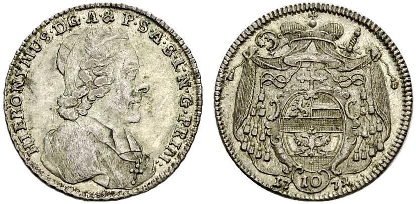 Antrittszehner 1772 Hieronymus Graf Colloredo