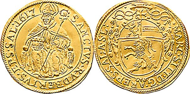 Salzburg Erzbistum, Markus Sittikus von Hohenems 1612 - 1619, Dukat, 1617
