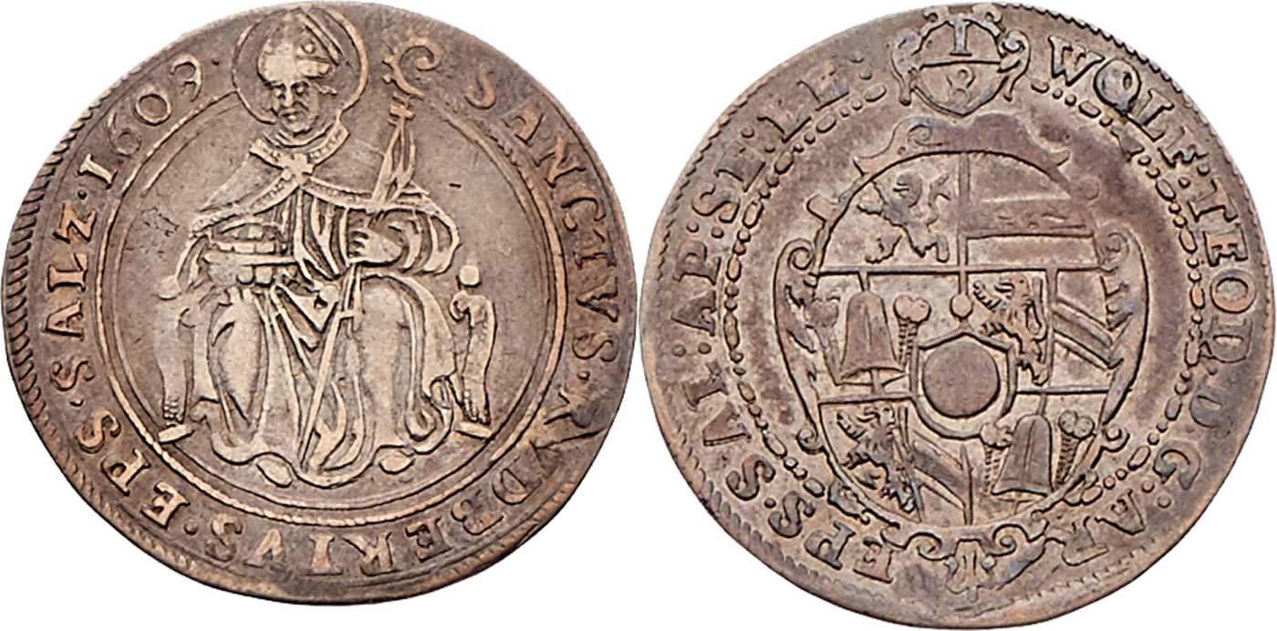 Achteltaler 1609, Dr. Frühwald,Auktion 120 - höchstselten