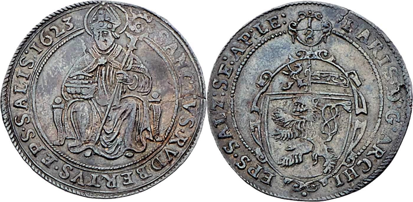 Achteltaler 1623, Dr. Frühwald,Auktion 120 - höchstselten
