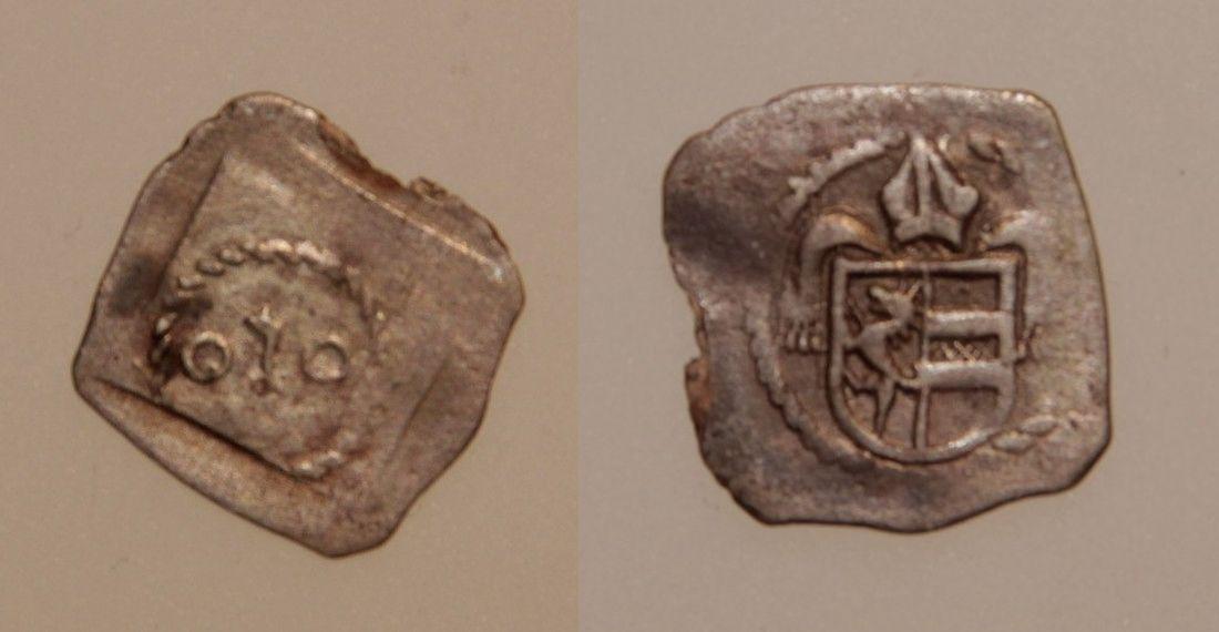 Friedrich 4. oder Sigismund 1., Pfennig mit Mitra