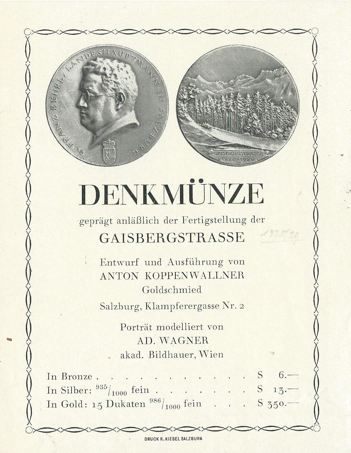 Gaisbergstrasse 1929