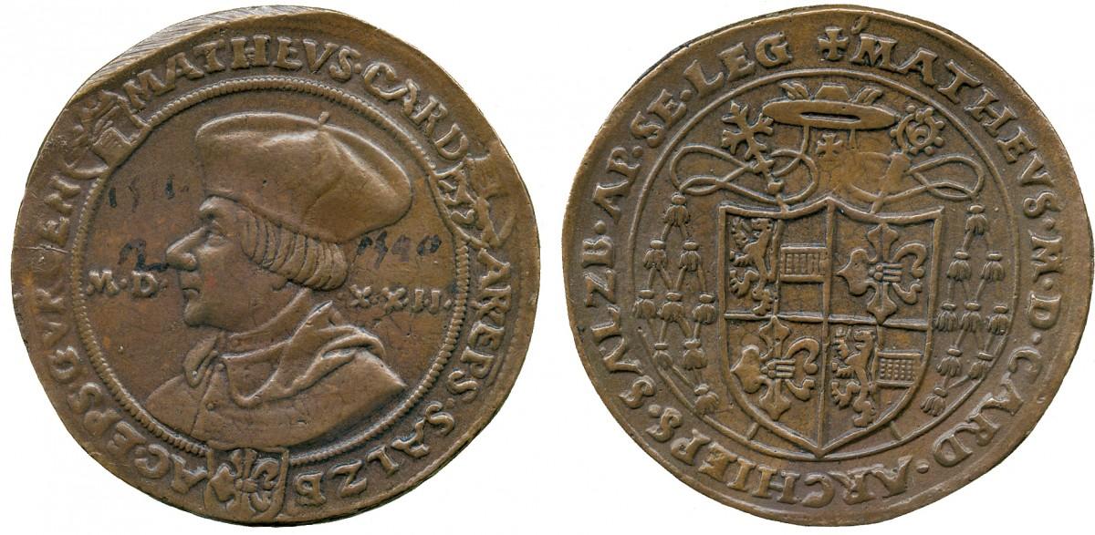 Matheus Lang von Wellenburg,  Bronzeabschlag des Guldiners 1522 RRR
