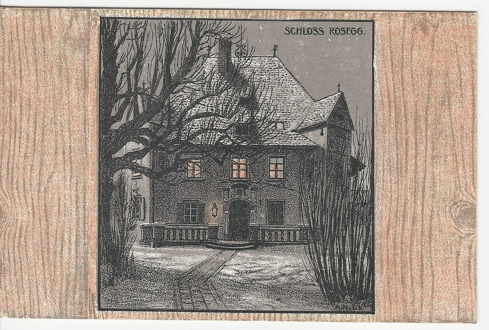 Haus am Rosenberg, Künstlerpostkarte