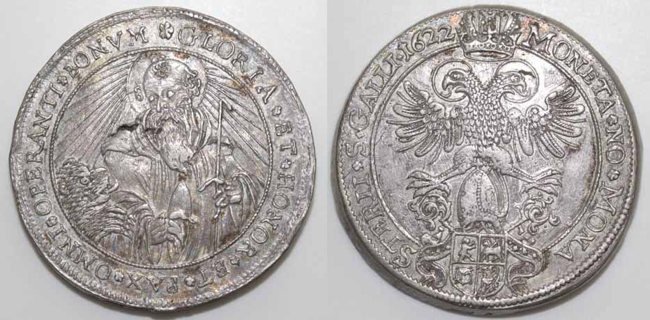 St. Gallen. Doppeltaler 1622