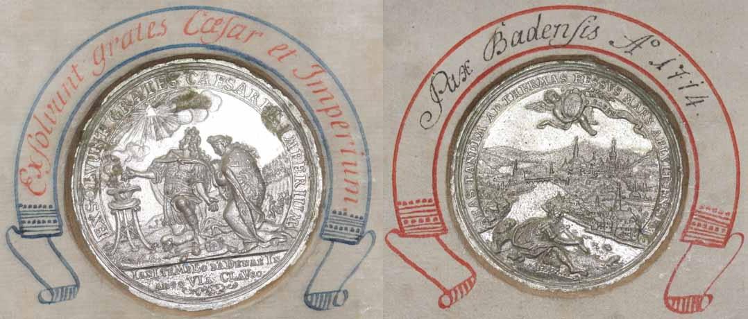 Medaille 1714 auf den Frieden von Baden (Aargau)