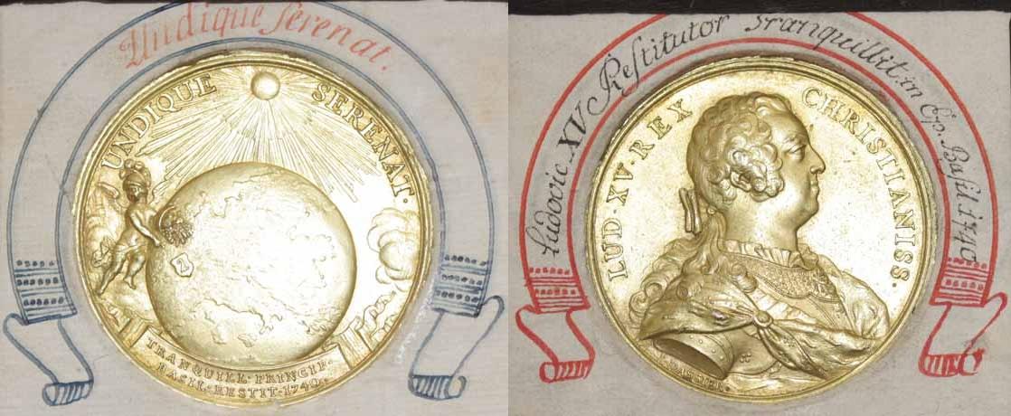 Basel, Medaille 1740 auf das Bündnis mit Frankreich