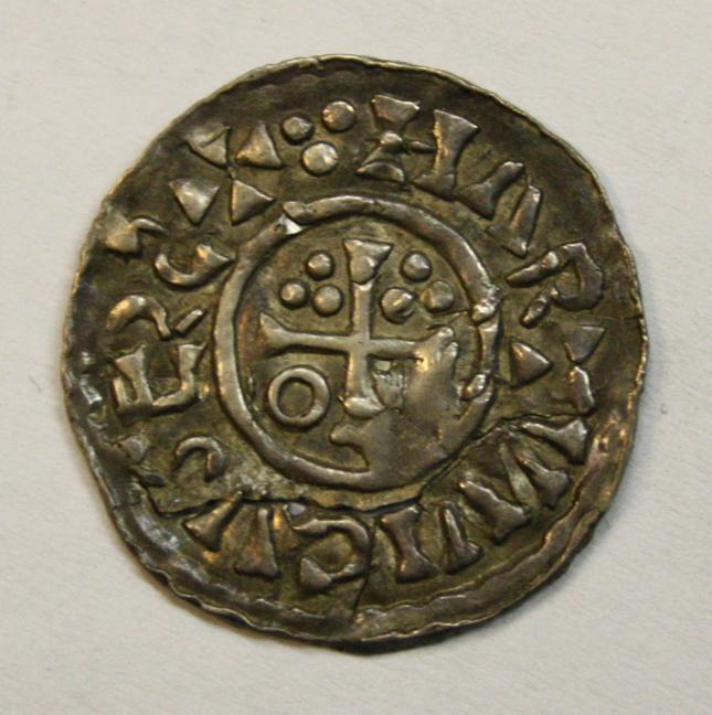 Denar des Erzbischof Hartwig mit König Heinrich 2. CNA A10c, Vs., Hamburg Museum