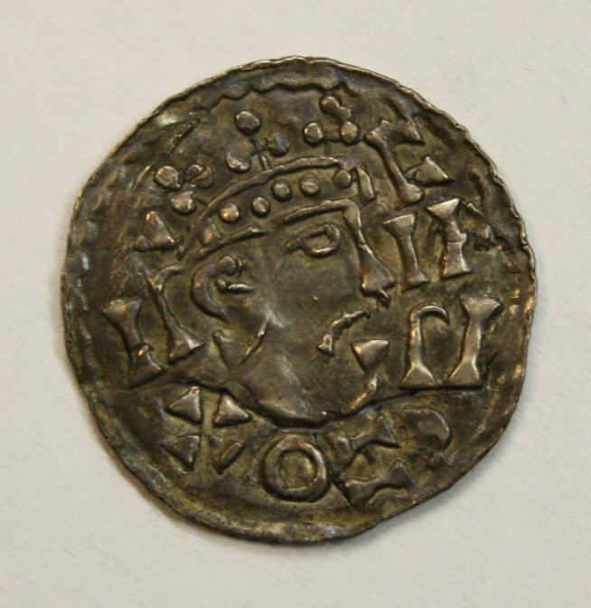 Denar des Erzbischof Hartwig mit König Heinrich 2. CNA A10c, Hamburg Museum