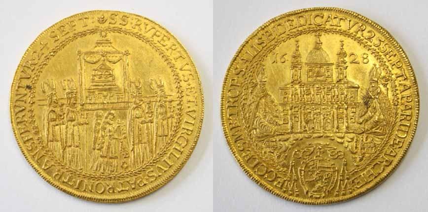 Paris Graf Lodron, 10 Dukaten auf die Domweihe 1628