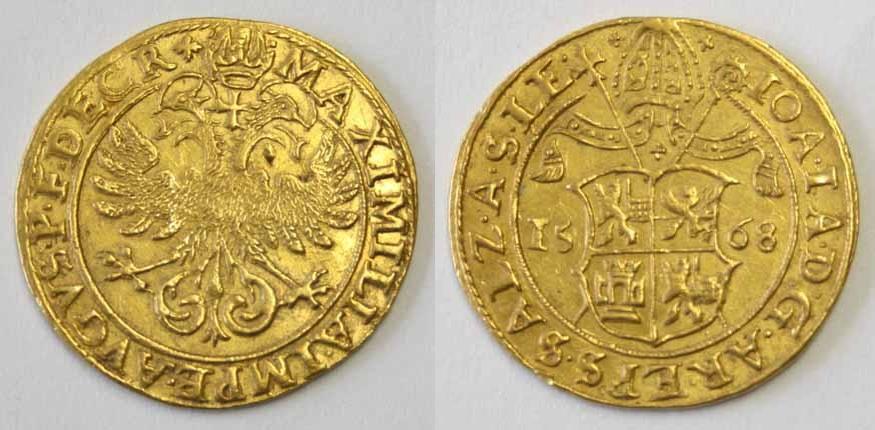 Johann Jakob von Kuen Belasi, Doppeldukat 1568