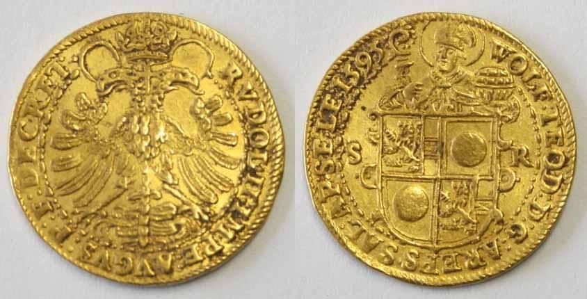 Wolf Dietrich von Raitenau, Doppeldukat 1595