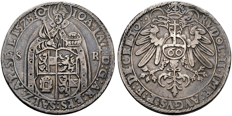 Doppelter Guldentaler (zu 120 Kreuzer ) 1578 (49,24 g)   Bild: H.D.Rauch, Wien