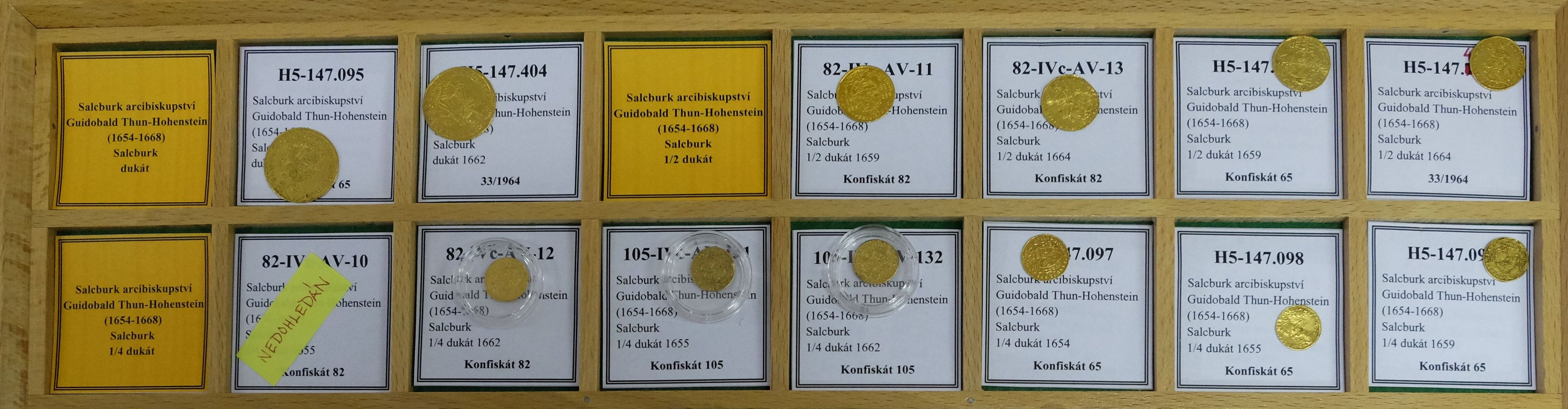 Inventarsystem im Prager Münzkabinett