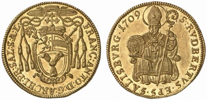 Dukat 1709, alter Typ (1623-1711)