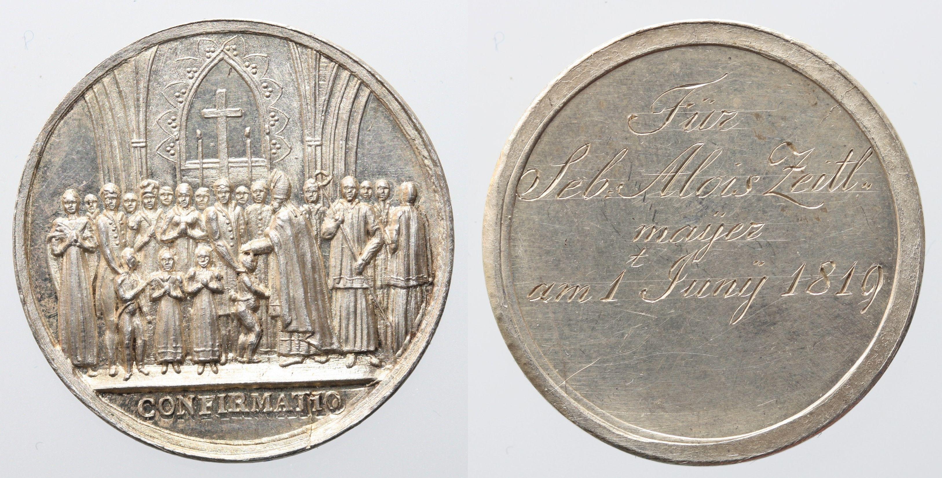 Firmmedaille verwendet in Salzburg 1819
