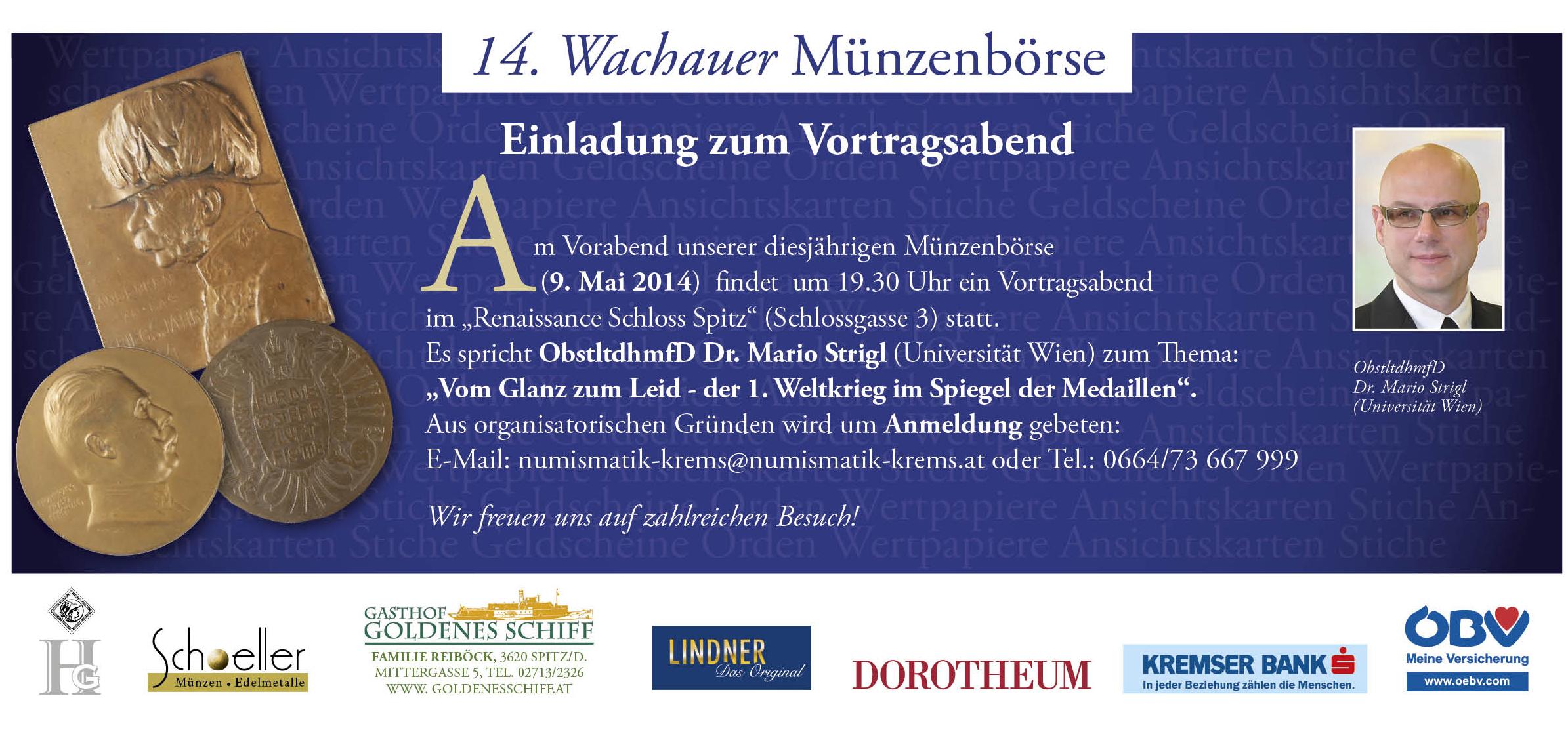 Vortrag Wachauer Münzbörse