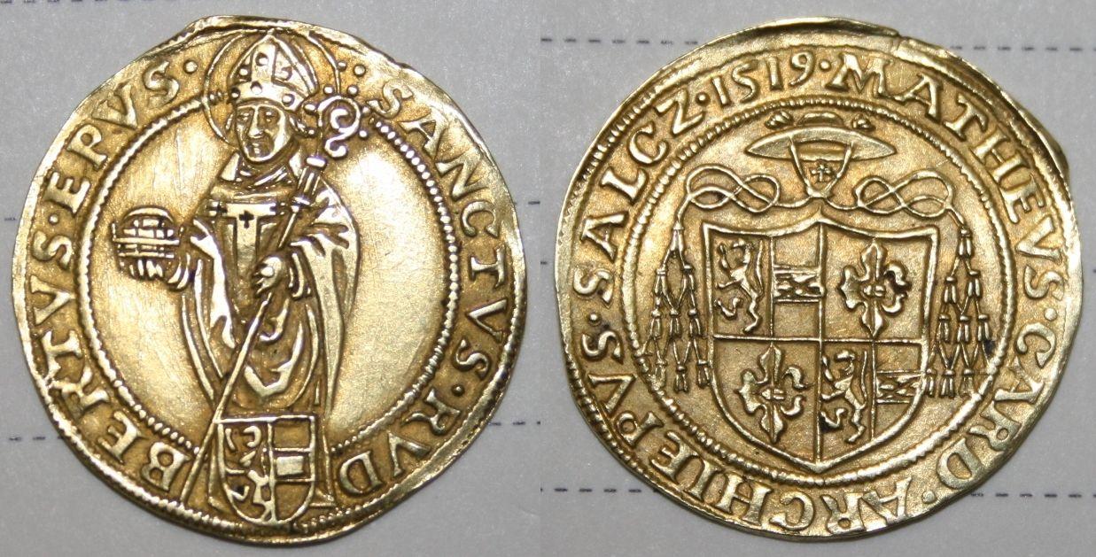 Matheus Lang, Goldgulden 1519 (Münzkabinett Zürich, Schweizer Nationalmuseum)