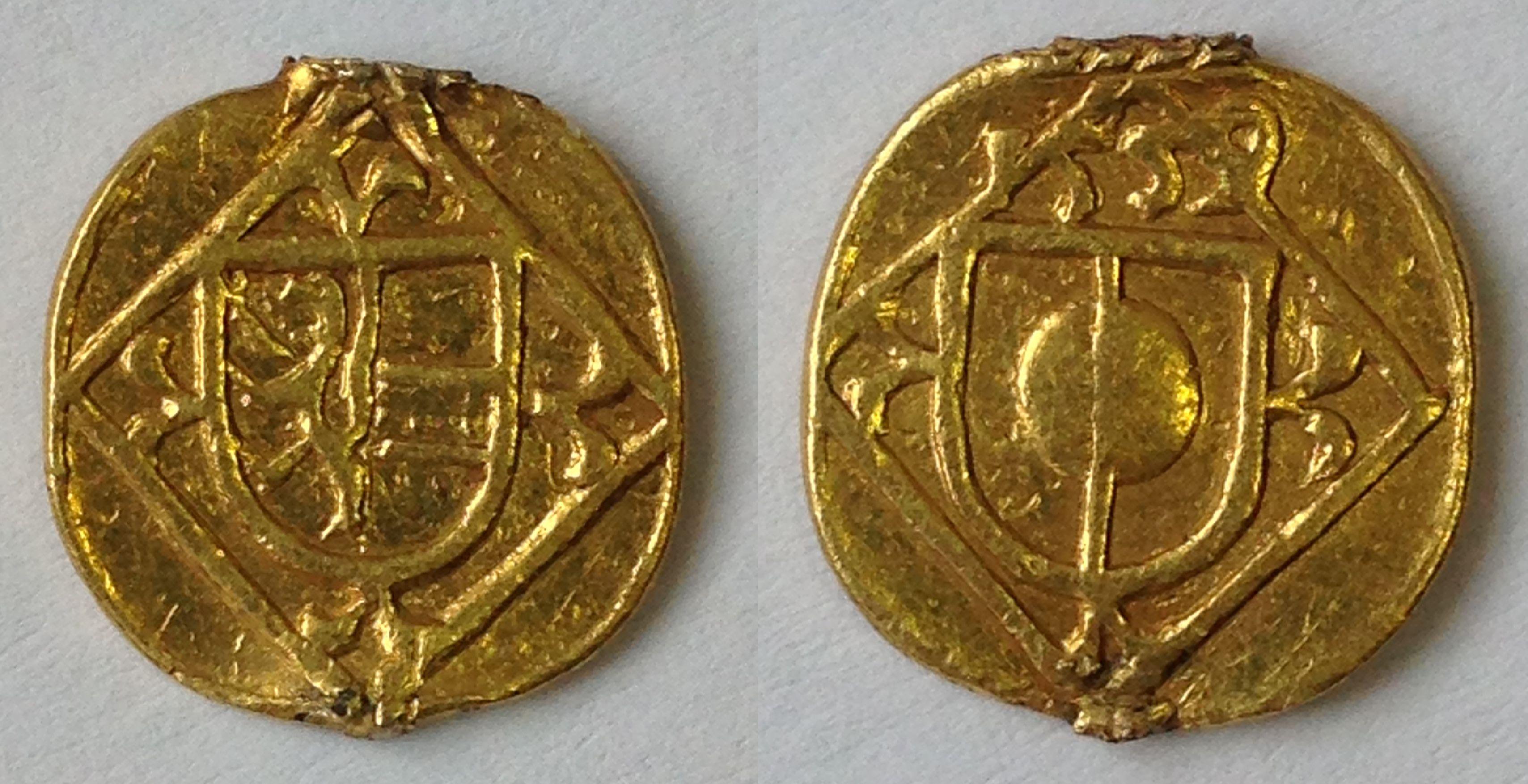 Goldabschlag des Hellers 1559, UNEDIERT