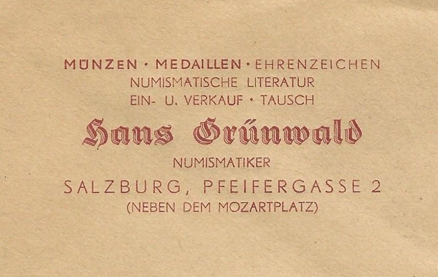 Altes Logo der Münzhandlung Grünwald