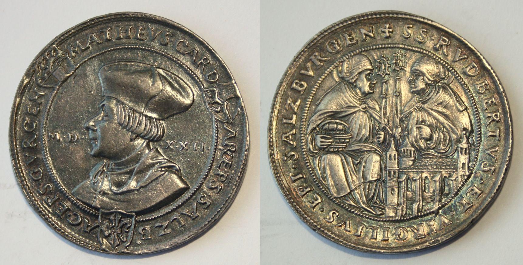 Schauguldiner 1522 mit Rupert und Virgil