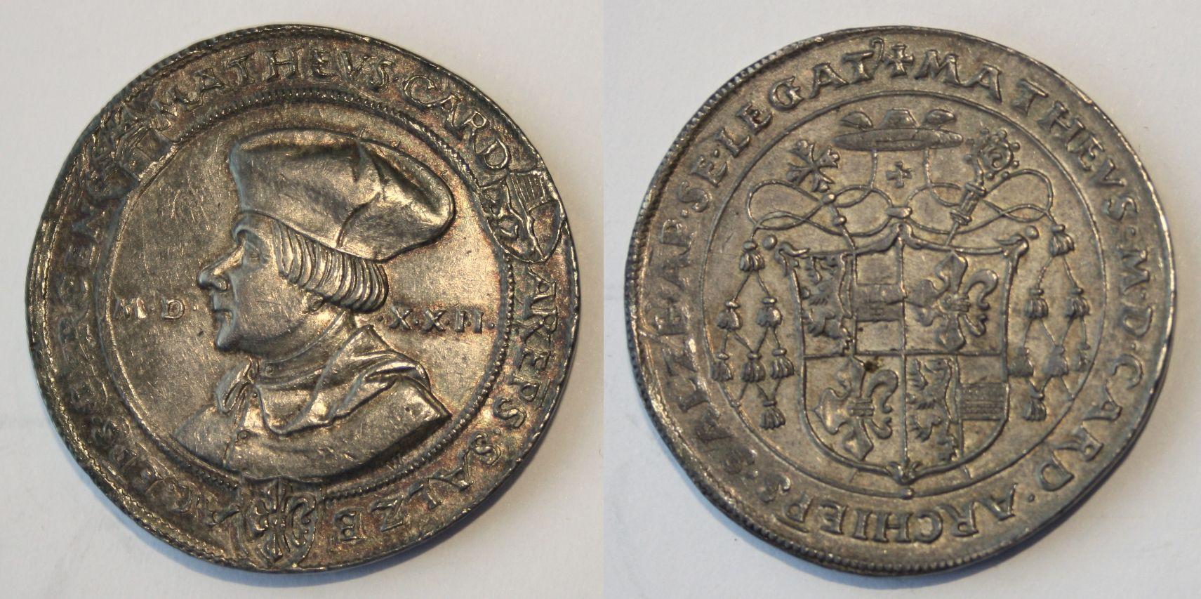 Schauguldiner 1522 Matheus Lang