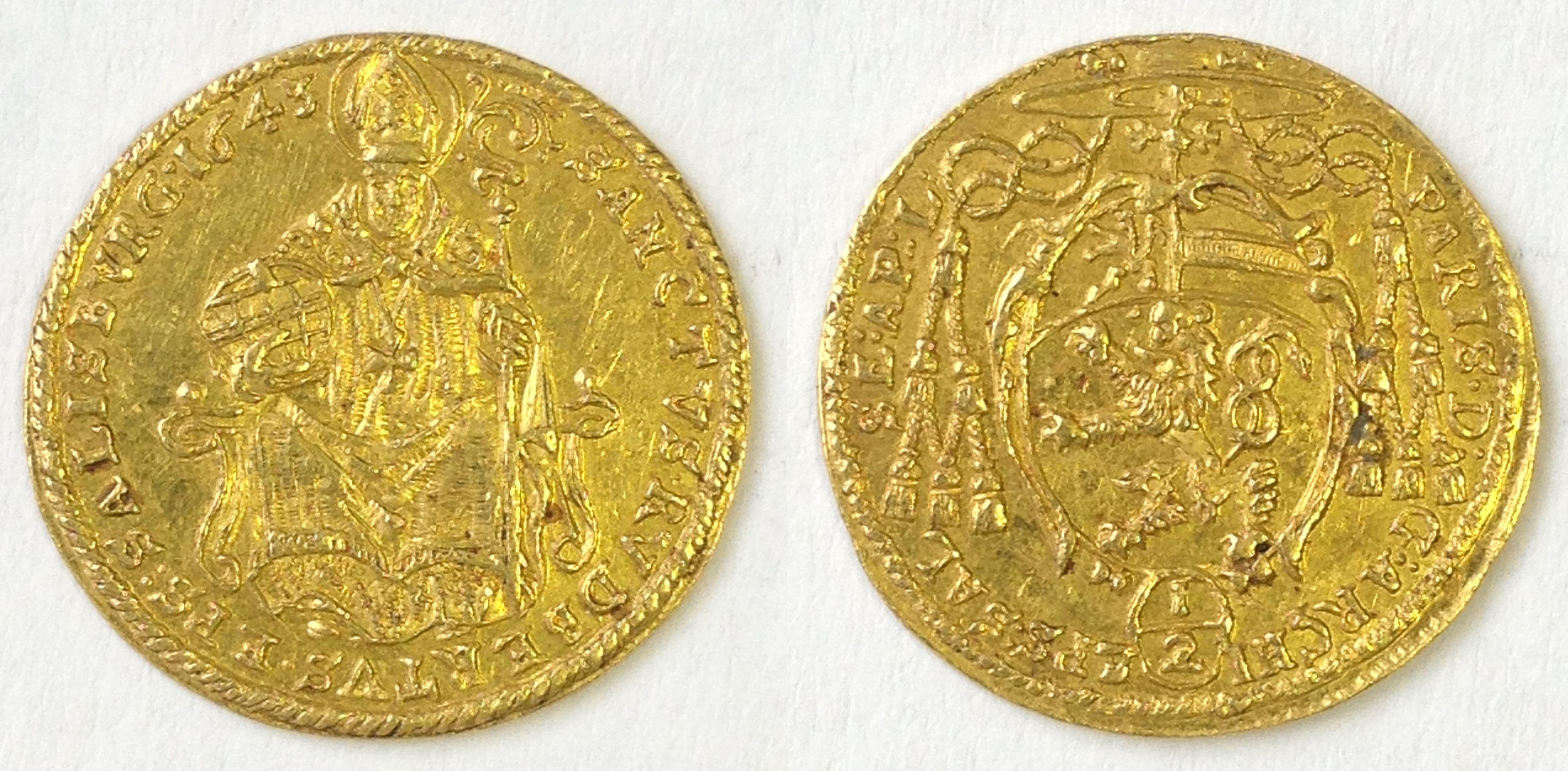 Halbdukat 1643, Münzkabinett Prag