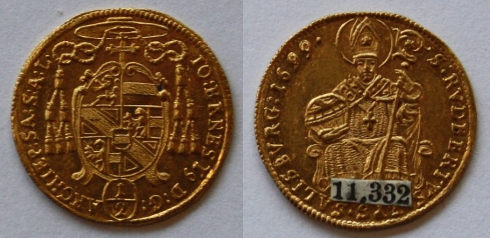 Johann Ernst Graf Thun: Halbdukat 1699