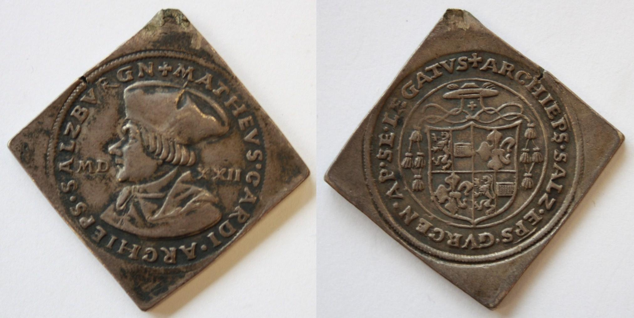 Matheus Lang, Klippe 1522 im Halbguldinergewicht.