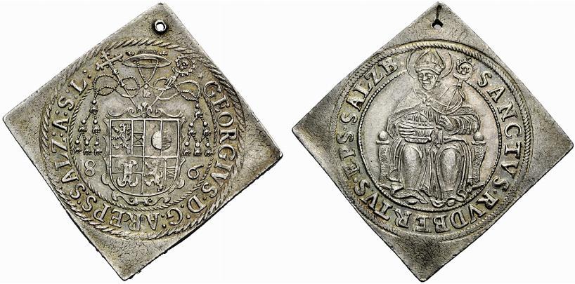 Georg von Kuenburg. Halbtalerklippe 1586